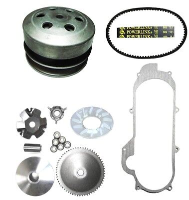 49cc 50cc GY6 QMB139 Scooter Front and Rear Clutch,  Belt & Gasket Short Case