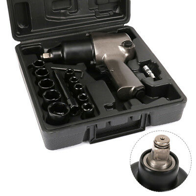 """14Pcs 1/2"""" Square Drive Air Impact Wrench With 10Pcs Sockets Set Pneumatic Tool"""
