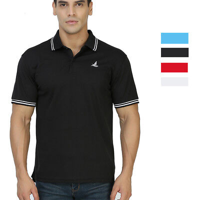 Men's Polo Shirts Tee Button Neck Basic Sports Breathable T-Shirts Short Sleeve