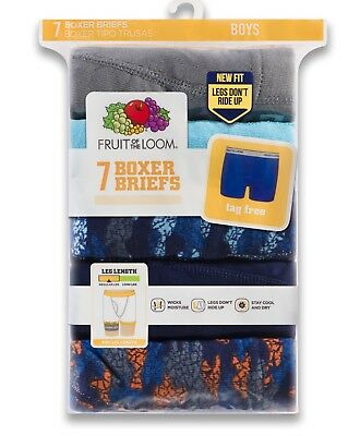 Fruit of the Loom Boys 7 PAIR Boxer Briefs size M (10-12)