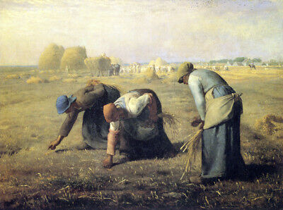 The Gleaners  by Jean-Francois Millet  Giclee Canvas Print Repro