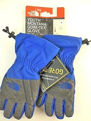 The North Face Youth Montana Gore-Tex Gloves Boys Size Small Heat Seeker NEW
