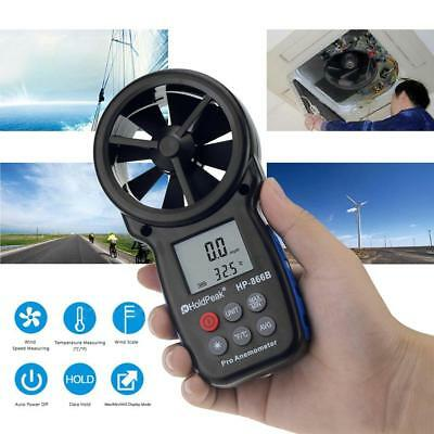 1x Digital Handheld Anemometer Thermomoter Wind Speed Meter Tester for Sailing