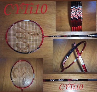 One New CY Ti-10 Badminton Racquet Dragon Bone Muscle Power