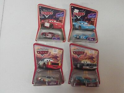 Mattel Disney Pixar CARS Lot of 4 NEW, Supercharged Dale Earnhardt, Cartrip, ++