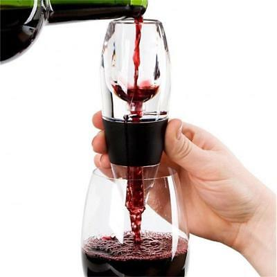 Acrylic Silicone Wine Aerator Magic Decanter Deluxe Wine Bottle Pourer Filter