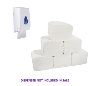 Luxury Toilet Tissue Sheets Individual Sheets Dispenser Paper White 2Ply (9000)
