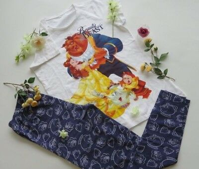 AVON DISNEY BEAUTY and The Beast PJ s Pyjamas Ladies Leggings Set ... 13b3c9894