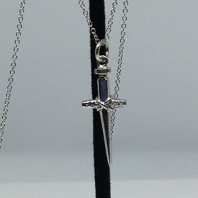"""Vintage Sterling Silver Cross Pendant With 20"""" Cable Link Chain"""
