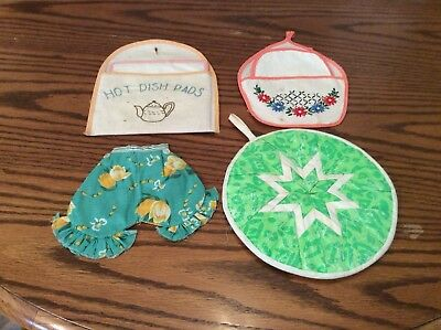 Vintage Hand Embroidered Hot Pads/pot Holders