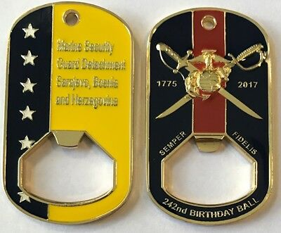 USMC MSG Marine Security Guard Detachment Sarajevo, Bosnia Challenge Coin