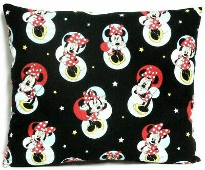 Mickey Mouse Toddler Pillow on Black 100%Cotton M29-1 New Handmade