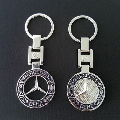 Mercedes-Benz Car KeyRing STAINLESS CAR LOGO FOB KEY RING KEY CHAIN 2 style