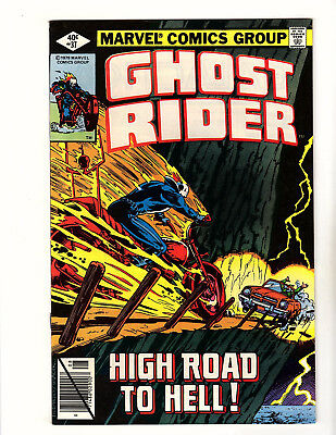 """Ghost Rider #37 (1979, Marvel) VF- """"High Road to Hell!"""" Bob Budiansky Cover"""