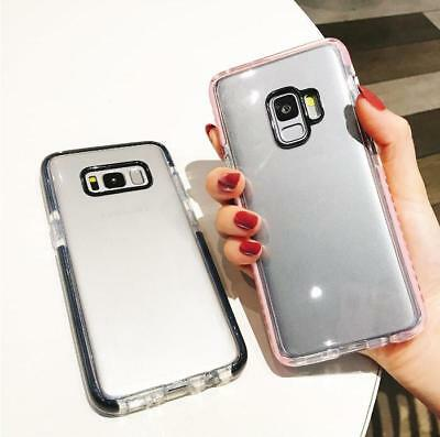 For Samsung Galaxy S9/S8/Plus Soft Silicone Rubber Transparent Clear Case Cover