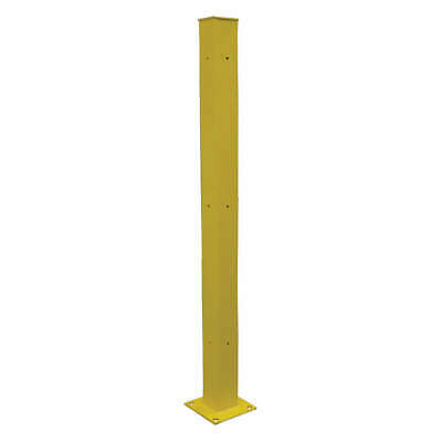 GRAINGER AP Steel Tubular Mounting Post,10 In x 72 In,Ylw, 21XM02, Safety Yellow