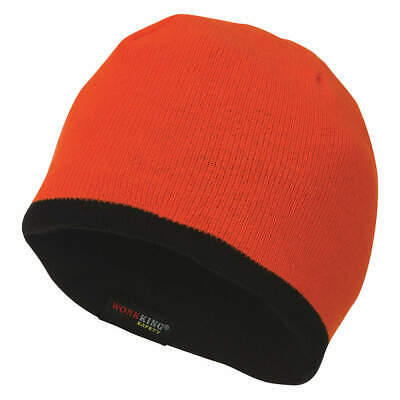 TOUGH Acrylic Beanie Cap,Hi-Viz Orange,Universal, SA2831, High Visibility Orange