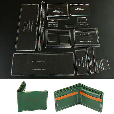 be0bd1525a24 ACRYLIC CARD HOLDER Leather template 915-A DIY Model For making Bifold  Wallets