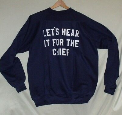 """VTG """"Let's Hear it for the Chief"""" Sweatshirt XXL Discus Athletic"""