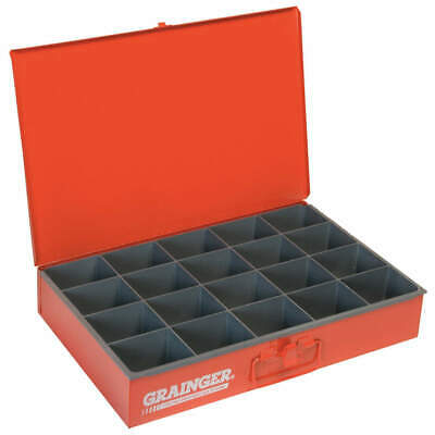 DURHAM Drawer,20 Compartments,Red, 111-17-S1158, Red