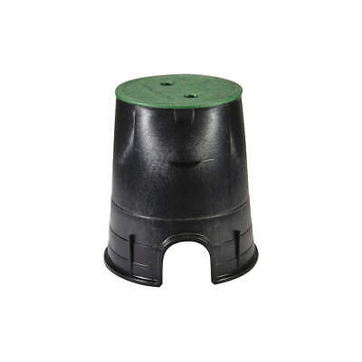 NDS Valve Box,Round,9in.Hx8-3/8in.W,6-1/2in., 107BC, Black/Green