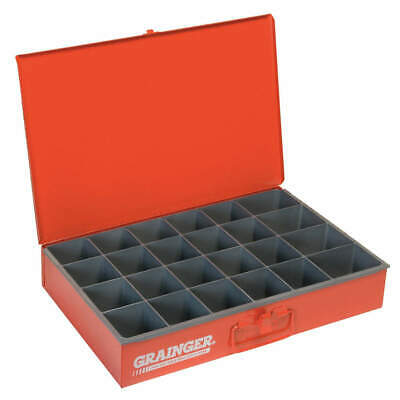 DURHAM Drawer,24 Compartments,Red, 102-17-S1158, Red