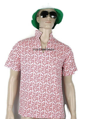 4f1188ba Fear and Loathing In Las Vegas Raoul Duke RED PATTERN SHIRT HAT GLASSES  Costume