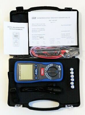 DT-5500 Megger Digital Insulation Tester CAT III 1000V 2000 Mega Ohm Meter NEW !