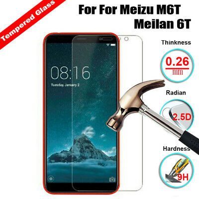 Premium Tempered Glass For Meizu M6T Meilan 6T Phone Screen Protector Cover Film