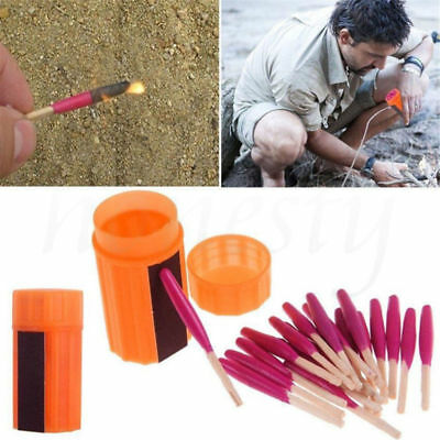 Outdoor Stormproof Waterproof Emergency Survival Lighter Kit Gear Storm Matches