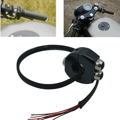 Universal 1X CNC Self Latching Switch Motorcycle Cafe Handle Grips Reset Buttons