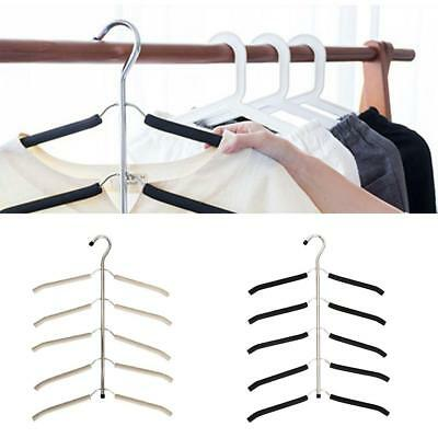Multi Layer Clothes Holder Drying Closet Organizers Sponge Non-slip Space Save
