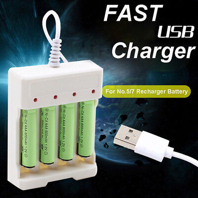 4 Slots USB Lithium Battery Charger Rechargeable AA/AAA battery Fast Charger