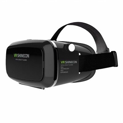 VR SHINECON 3D VR Glasses, 3D VR Headset Virtual Reality Box with Adjustable Len