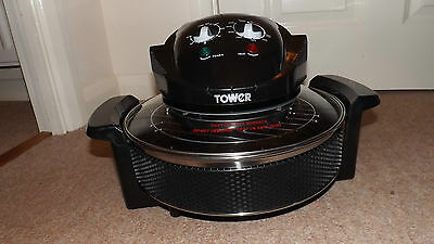 Tower AirWave Low Fat Air Fryer Base,  Extension Ring And Glass Lid Thermostat
