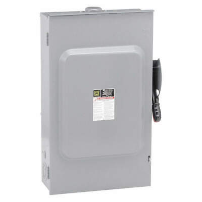 SQUARE D Safety Switch,240VAC,2PST,200 Amps AC, H224NRB