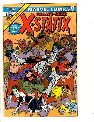 Lot Of 10 X-Statix Marvel Comic Books # 1 Giant Sz 2 3 4 5 6 7 8 9 10 X-Men CR53