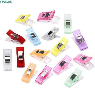 50 Pcs Colorful Housekeeping Clips Clear Sewing Craft Quilt Binding Plastic