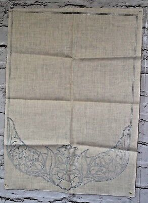 Set of 5 Printed Chair Backs To embroider Anti-Macassar Floral Design Linen?