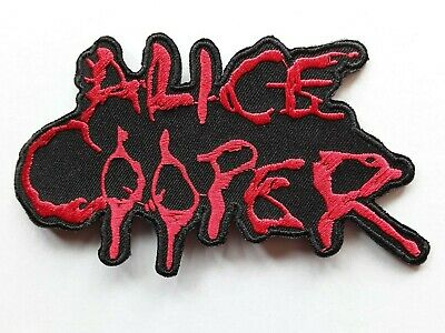 Alice Cooper American Heavy Metal Rock Music Embroidered Quality Patch Uk Seller