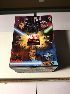2009 - Topps - Star Wars Galaxy Series 4 - Complete 120 Trading Card Set - Mt