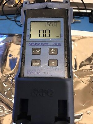 EXFO FOT-20A OPTICAL FIBER TESTER POWER METER 650 to 1550 nm