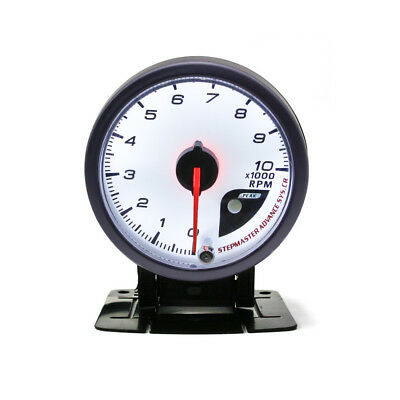 "2.5"" 60mm Car Auto White Face Tachometer 0-10000 RPM Gauge Meter (No Logo)"