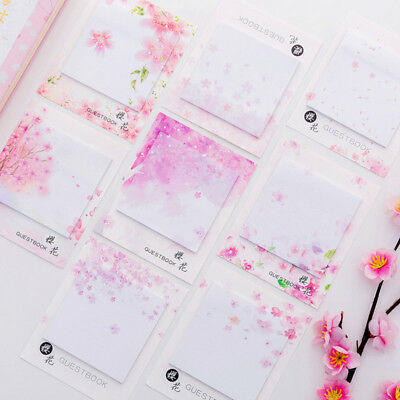 Sakura Sticky Note Bookmark Page Marker Office School Self Adhesive Memo Pad