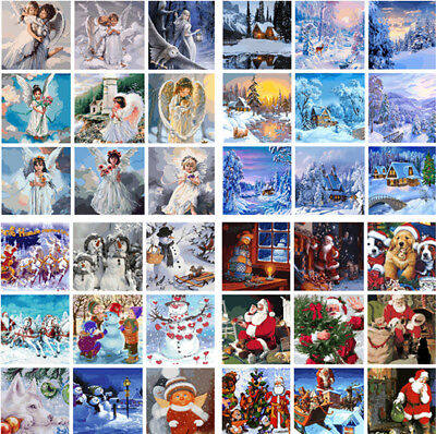 Snow Scene DIY Paint By Number Kit Digital Oil Painting Christmas Home Decor New