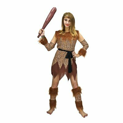 Sea Hare Il costume delle signore cavewomen comprende: Headpiece, Gonna, (K4m)