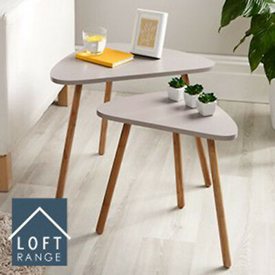 Adorable Design Coffee Table Nesting Coffee End Tables,Triangle Side Home Office