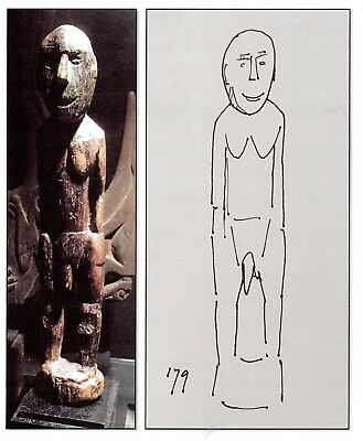 Good, early Lake Sentani figure, New Guinea - good, seamless provenance