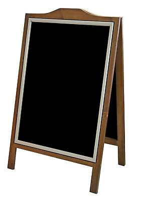 Pavement Sign Blackboard WOODEN A-BOARD Aluminium Frame with Cover DWA OWZ LOGO