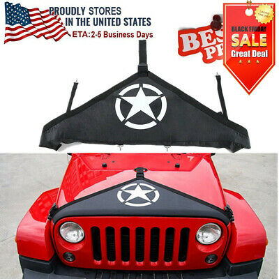 2007-2018 Jeep Wrangler JK Hood Cover Front End Bra Protector Kit Accessories YE